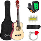 Best Choice Products 30in Kids Classical Acoustic Guitar Beginners Set with Carry Bag, Picks, E-Tuner, Strap - Natural