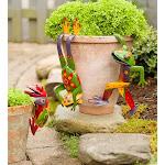 Metal Frog Pot Huggers, Set of 3 Frogs