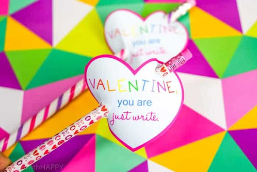 Valentines Cards With Pencils - Made with HAPPY