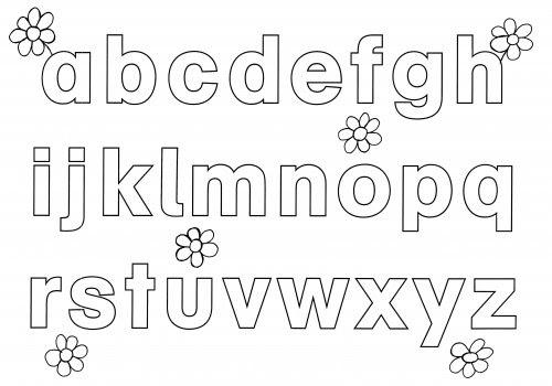 Kostenlose Malvorlage Buchstaben lernen: Alphabet ausmalen ...