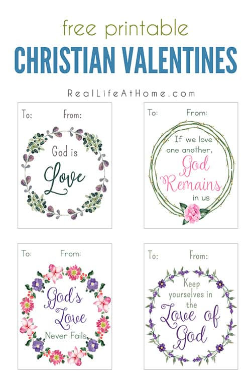 Printable Christian Valentine Cards for Kids - Real Life at Home