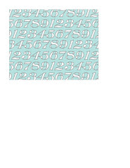 A2 card size JPG white typography numbers on light turquoise LARGE SCALE