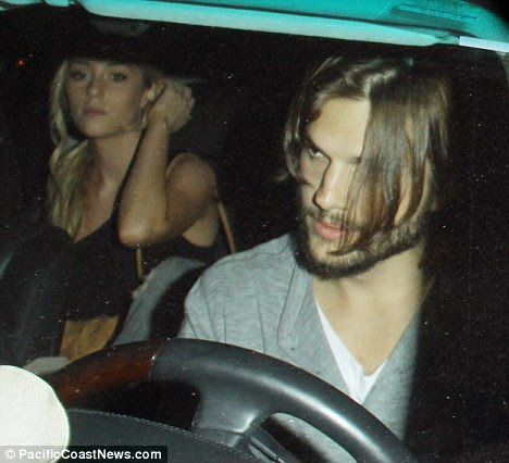 History? Ashton Kutcher was pictured leaving the Roosevelt Hotel with a blonde who resembles Sara Leal back in June