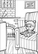 Dibujos De Masha Y El Oso Para Colorear En Colorearnet