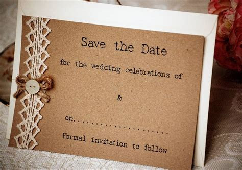 country vintage style save the date postcard by vintage