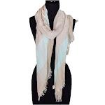 Women's Ladies FashionLong Super Large 3 Tone Segment Scarf Neck Scarves Shawl Wrap - Silver