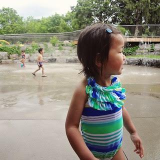 cool down at the splash pad!