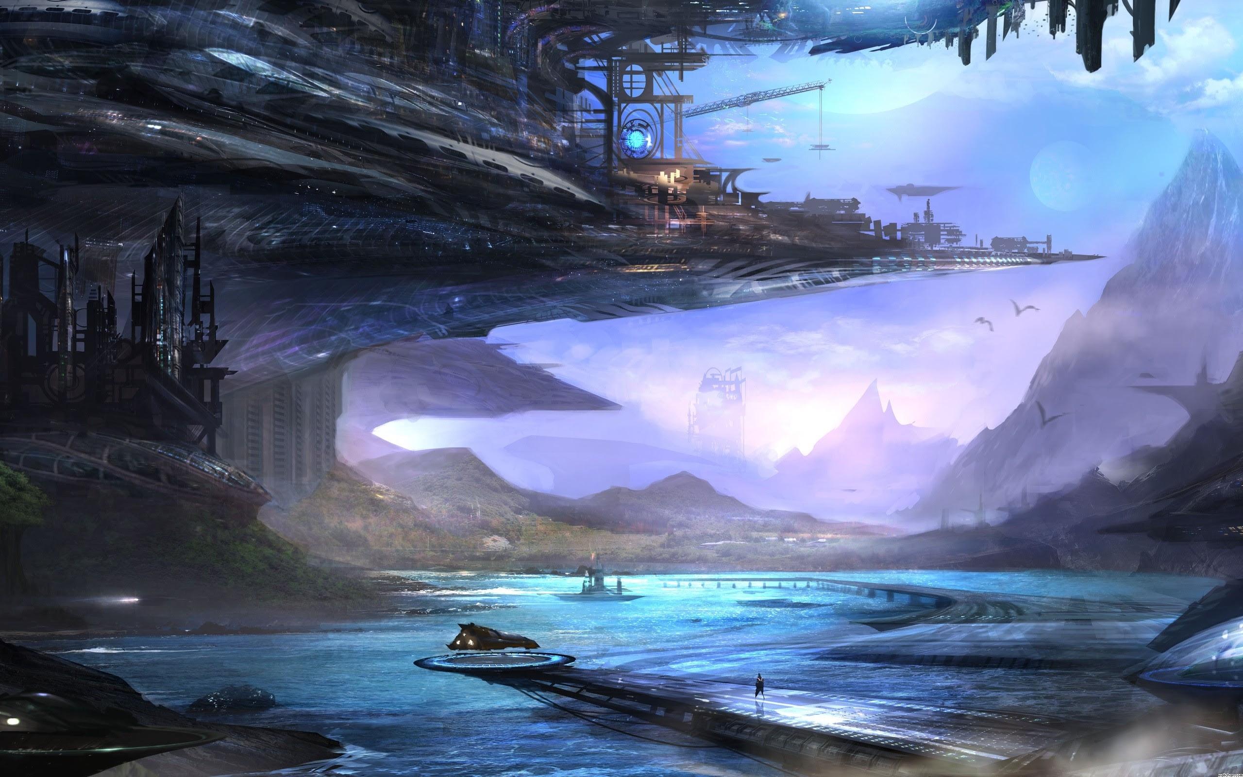 Anime Landscape Wallpaper HD | PixelsTalk.Net