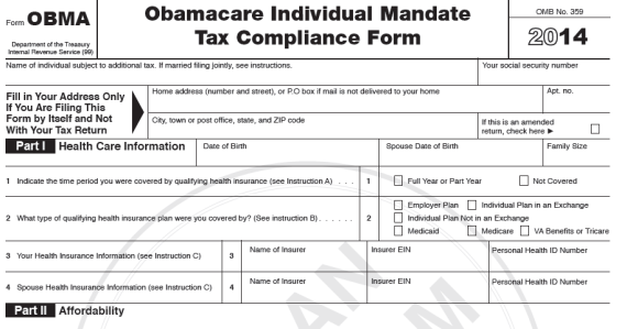 Group's 'Obamacare Tax Form' Evades Facts - FactCheck.org
