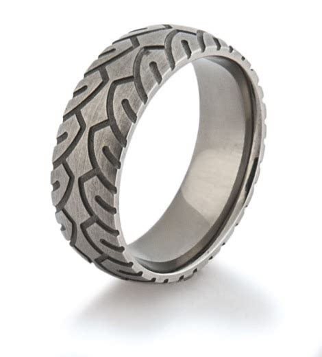 Men?s Titanium Motorcycle Ring ? Titanium Buzz