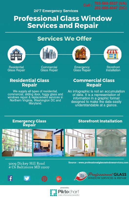 Professional Glass Window Services and Repair | Piktochart Infographic Editor