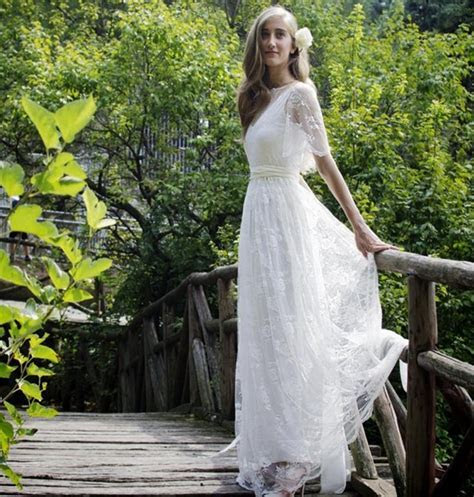 Bohemian Romantic Style Wedding Dresses 2016 Lace Bride