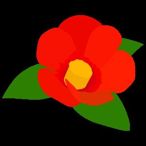 ツバキの花7 花植物イラスト Flode Illustration フロデイラスト