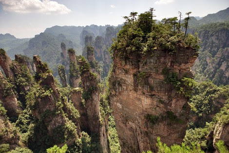 """جبال """"تشانغجياجيه"""" بالصين .. صخور مدهشة وطبيعة نادرة"""