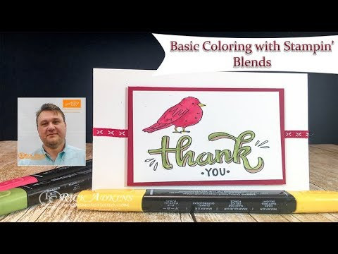 Simple Basic Coloring Technqiue & Introduction to Stampin' Blends