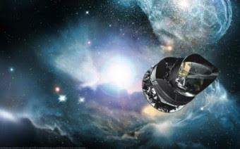 Il satellite Planck dell'Agenzia spaziale europea crediti: ESA)
