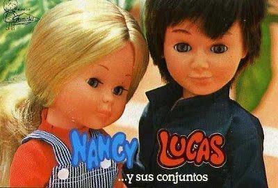 Foto muñeca Nancy y muñeco Lucas 1969