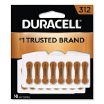 Hearing Aid Battery, #312, 16-pack