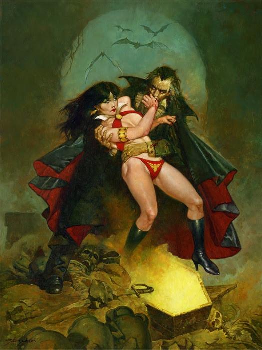 Vampirella vs Dracula  by Sanjulian Comic Art
