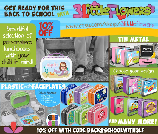 Lunchboxes are here... and enjoy a 10% off!! ~ 3 Little Flowers - The Blog