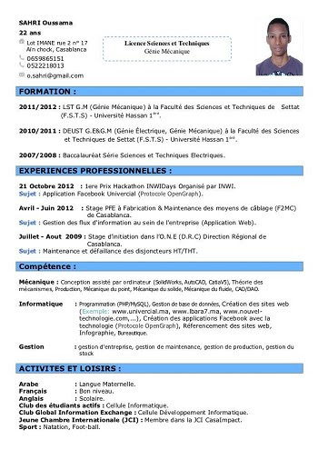 Cv Pour Travailler Au Mcdo 17 Ans