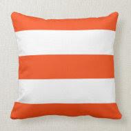 New Orange & White Stripe Couch Pillow Gift throwpillow