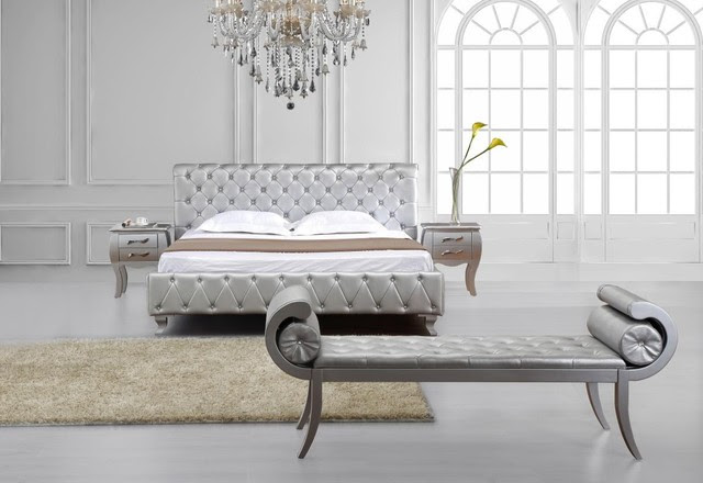 Elegant Leather Modern Design Bed Set - modern - beds - miami - by ...