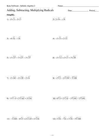 Bestseller: Answer Key Kuta Software Infinite Algebra 1