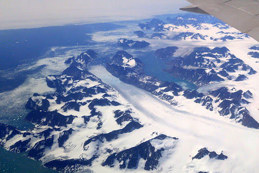 Photos of Greenland and the Arctic from my window seat