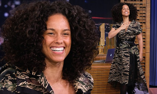Alicia Keys looks radiant as she promotes new album on Tonight Show
