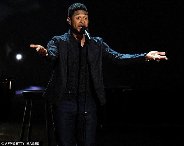 Obtendo seu groove em: Usher foi mais um performer durante o Grammy Nominations Concert