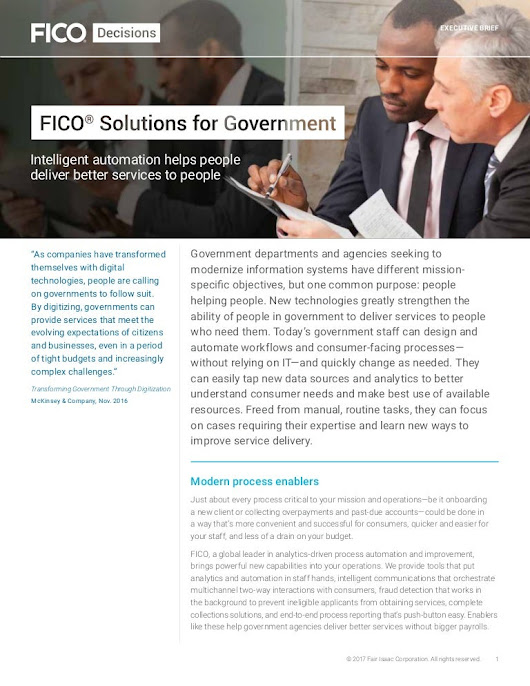 FICO Solutions for Government
