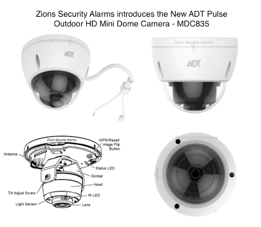 ADT Launches New ADT Pulse Dome Camera MDC835 Indoor/Outdoor