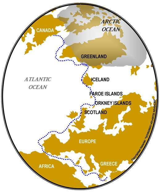 The road to Hyperborea and North America