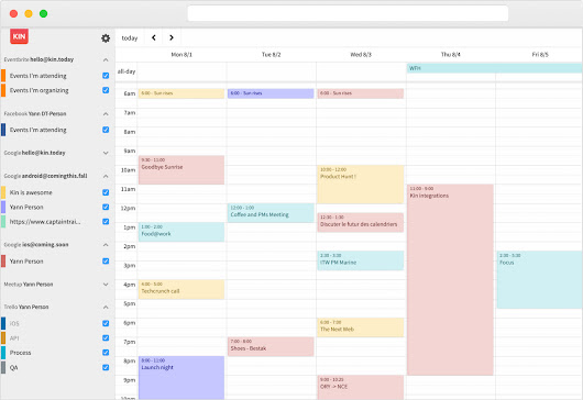 Kin, the simple & connected calendar