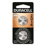 Lithium Coin Battery, 2016, 2/Pack DL2016B2PK