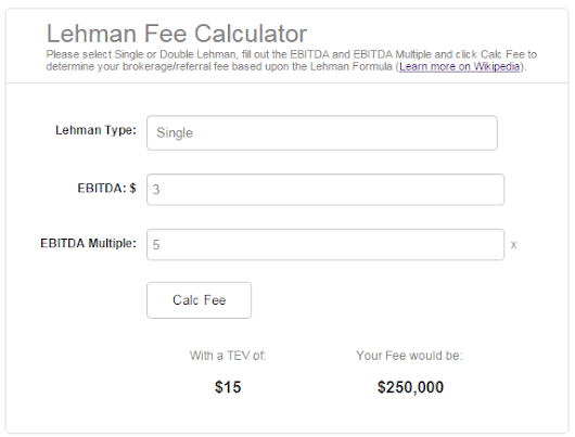 Lehman Fee Calculator