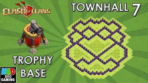 Th7 trophy base with new air sweeper clash of clans