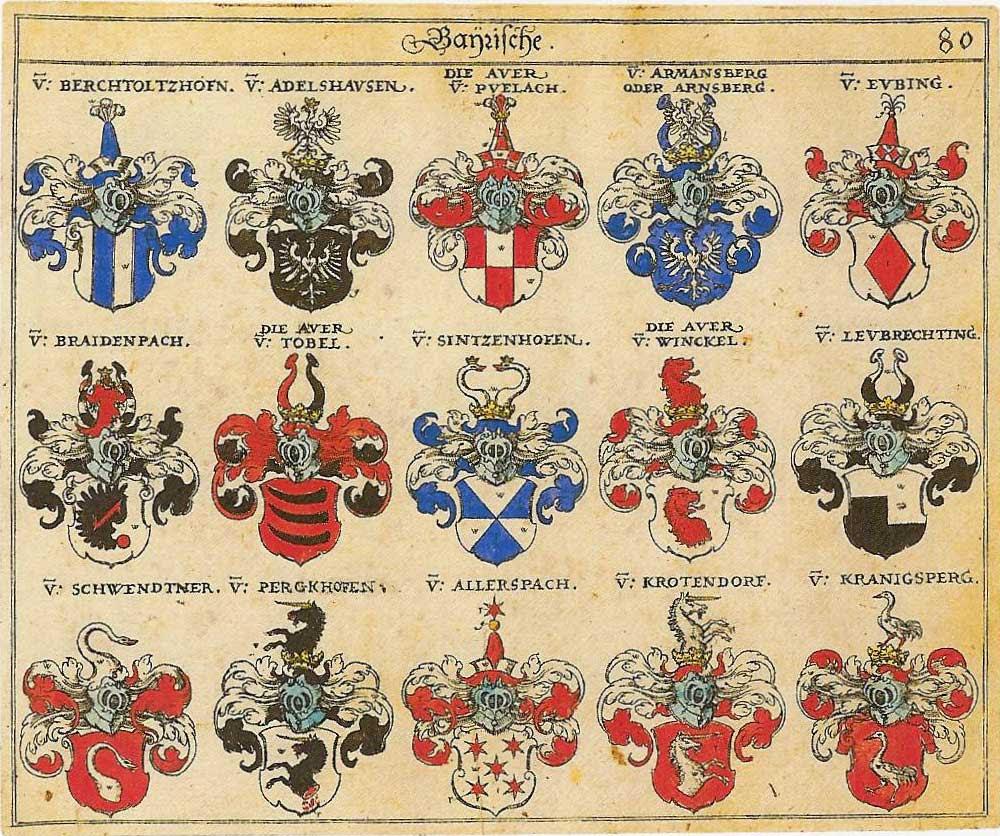 Wappen des Adelsgeschlechts Bertoldshofen - Heraldik im Netz