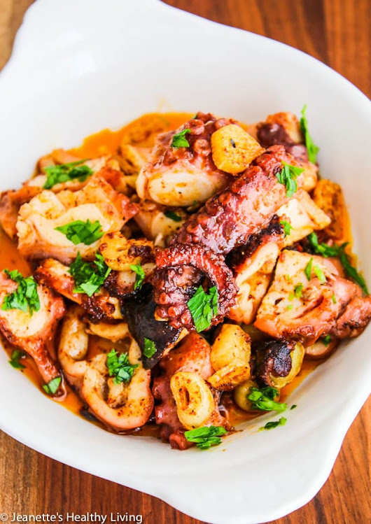 Sous Vide Octopus Spanish Tapas Recipe - Jeanette's Healthy Living