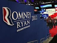 Republicans launched Mitt Romney's national convention Monday with the bang of a gavel before a smattering of delegates as Tropical Storm Isaac led them to cancel most of the opening-day program. (Aug. 27)