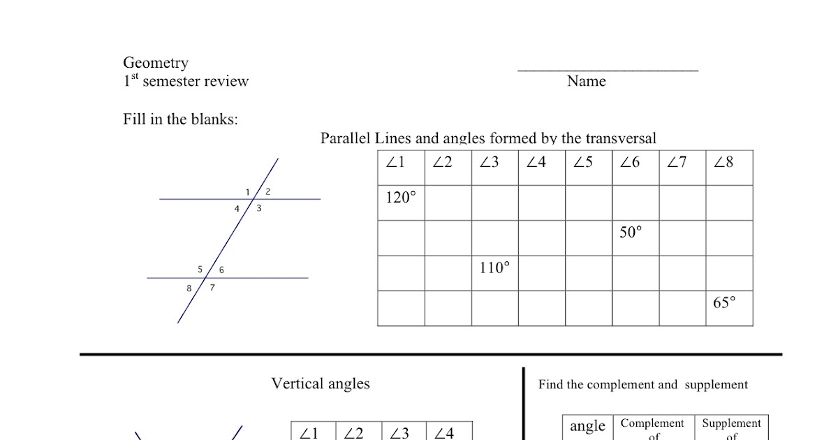30 Parallel Lines And Triangles Worksheet Pdf - Worksheet ...
