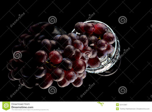 Grapes and wine glasses stock image. Image of dark, alcoholic - 52412087