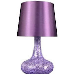 All the Rages LT3039-PRP Mosaic Genie Table Lamp - Purple