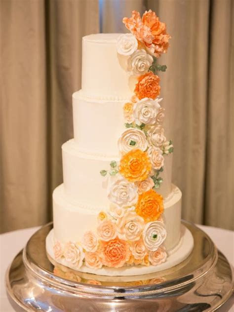 Wedding Cakes With Floral Details   HGTV