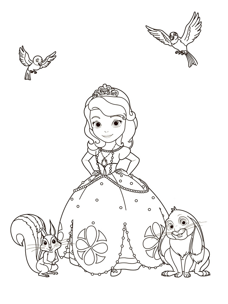 Prenses Sofia 8 ücretsiz Boyama Resimleri