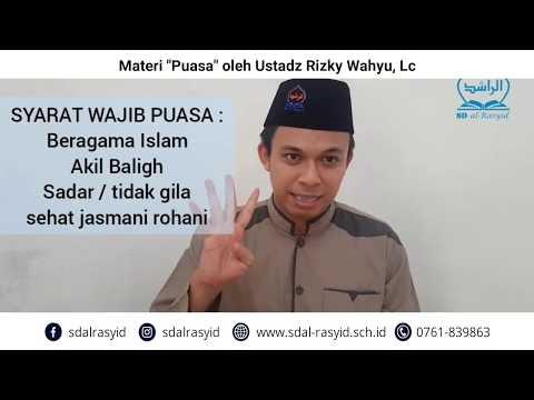 """Materi """"Puasa"""" oleh Ustadz Rizky Wahyu, Lc"""