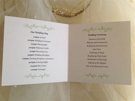 Order of Service Wedding Template   Daisy Chain Invites
