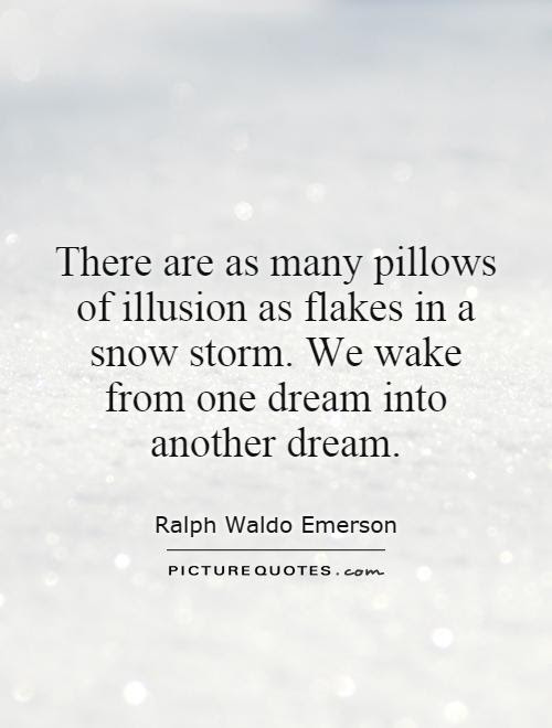 There Are As Many Pillows Of Illusion As Flakes In A Snow Storm