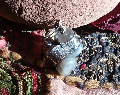 Labradorite and Yellow Agate Bazaar Earrings